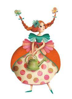 Thé des Princesses - Stickers Djeco - Mon grain d' sel Marie Desbons - so in love with her whimsical charactersMarie Desbons - so in love with her whimsical characters Grafic Design, Claudia Tremblay, Illustration Mignonne, Art Fantaisiste, Arte Fashion, Art Mignon, Children's Book Illustration, Whimsical Art, Cute Drawings