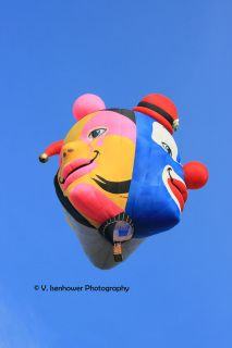 Triple Crown has 3 clown faces.  Here are the pink and blue sides!  See Triple Crown #2 for another view.