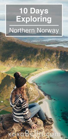In September I went on a trip to northern Norway where I visited the Lofoten Islands, Senja and saw the aurora! Norway, Norway travel, Norway vacation guide, Lofoten Islands, Senja, Eliassen Rorbuer cabins, Hamnoy, Reine, hiking, Norway hikes, wanderlust, aurora borealis, northern lights, arctic, vlog, Mt. Segla, bioluminescence, Ålesund, Trollstigen, Geirangerfjord, Oslo, Norway photography, photo inspiration