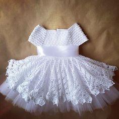 Crochet children dress with graphic - Free Patterns