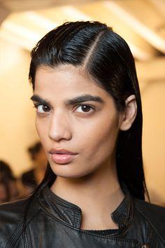 Bhumika Arora Model Slicked Back Hairstyles 2015