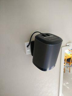 sonos one wall mountrf - Google Search Sonos Play 1, Sonos One, Hide Cables, Wall Mount, Toronto, Google Search, Wall Installation, Hiding Cables, Hiding Cords
