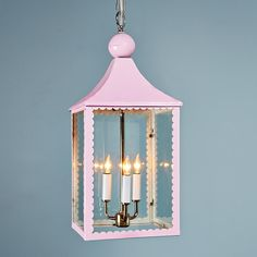 Umm...for a little girl's room? yes please! Scallop Trim Hanging Lantern