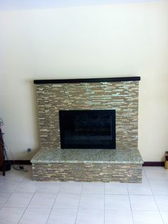 Contemporary Tiled Fireplace