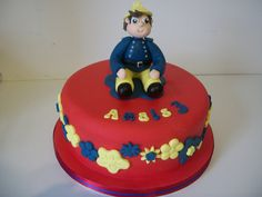 girly fireman sam style cake by Pagancakegirl, via Flickr