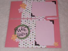 12x12 Premade Baby Girl Scrapbook Layout by SimplyMemories on Etsy, $5.99