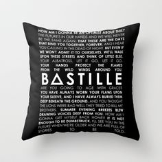 BASTILLE+-+BAD+BLOOD+Throw+Pillow+by+infinitum