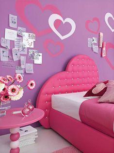 Pink And Purple Color Scheme Dots Instead Of Hearts Pink Bedroomsgirls