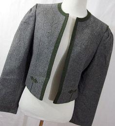 Original Distler Trachten jacket 38 M gray by AmazingTasteVintage