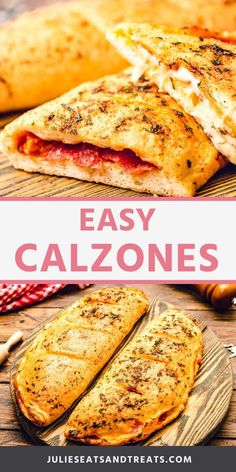 Try this delicious Calzone recipe for dinner tonight! All your favorite pizza toppings stuffed inside a pizza dough then baked! Pepperoni Recipes, Pizza Recipes, Easy Dinner Recipes, Easy Meals, Cooking Recipes, Skillet Recipes, Cooking Gadgets, Pepperoni Calzone, Calzone Dough