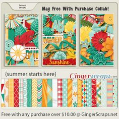 Free-With-Purchase at GingerScraps for the month of May! A perfect collab by the GingerScraps Designers that will help you to treasure your Summer photo's! It will be automatically added to your cart when you spend $10.00 or more in the GingerScraps shop. Summer Starts Here; http://store.gingerscraps.net/GingerBread-Ladies-Collab-Summer-Starts-Here.html. 05/014/2015