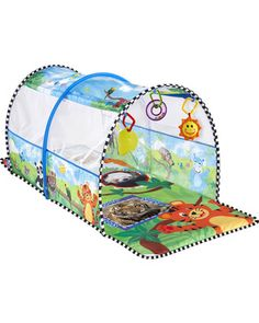Baby will go WILD for this safari adventure gym! He'll keep active and learn languages, colors, and sounds. Click above to buy one.