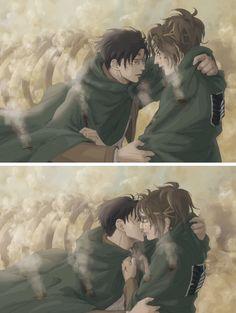 Levi x Hanji. Shingeki no Kyojin. Attack on Titan. Armin, Hanji And Levi, All Anime, Manga Anime, Anime Art, Attack On Titan Ships, Attack On Titan Anime, Levihan, Ereri
