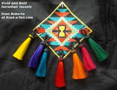 Match your color: hand-dyed  #horsehair tassels from Knot-a-Tail.com http://knot-a-tail.com/catalog/16