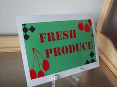 Items similar to Kitchen word art print red green black fresh produce typography home decor on Etsy Kitchen Words, Word Art, Art Boards, Diy Art, Red Green, Original Art, Typography, Fresh, Art Prints