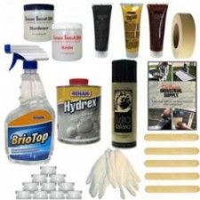 Deluxe Granite Chip and Crack Repair Kit - CounterTop Guides - Everything you need to fix, seal, and polish your granite countertops in one place! Natural Stone Countertops, Quartz Countertops, Hazardous Materials, Home Repairs, Masking Tape, Cleaning Hacks, Seal, Household, Chips