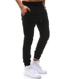 Pánske čiierne jogger nohavice