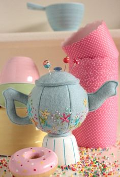 teapot pincushion @ Home Ideas and Designs