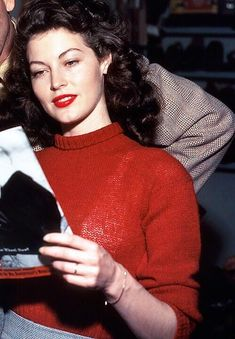 Ava Gardner on the set of The Killers (1946)