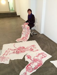 Spiegelwaal 2 - Seet van Hout Artist Art, Artist At Work, Embroidery Art, Machine Embroidery, Art Of Memory, A Level Textiles, Contemporary Embroidery, Fabric Journals, Textile Artists