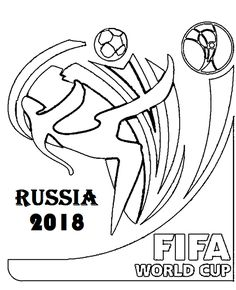 fifa coloring pages - logo resmi piala dunia fifa 2018 rusia free vector cdr