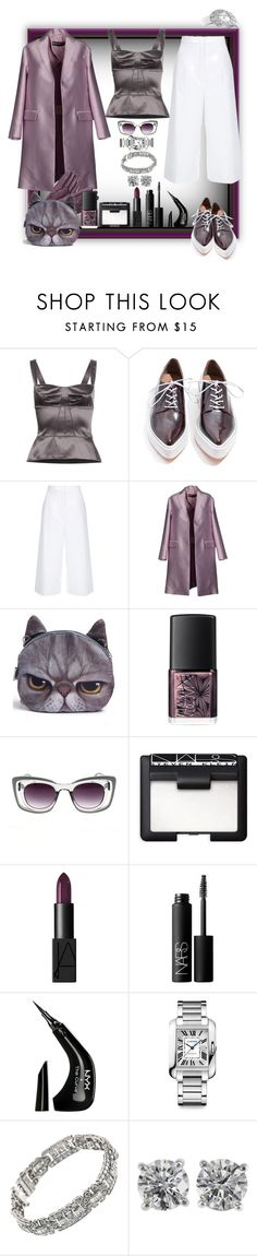 """Dear Harry! Tell me all about it!"" by ritva-harjula ❤ liked on Polyvore featuring Dolce&Gabbana, Jeffrey Campbell, ESCADA, Rochas, NARS Cosmetics, Chicnova Fashion, NYX, Cartier, Tiffany & Co. and Harry Winston"