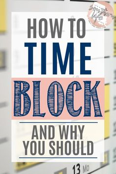 How to be highly productive every single day by using time blocking. Time Blocking, learn how to and why you should. Have better time management and productivity daily when you use this method to time block. Time Management Strategies, Time Management Skills, Time Management Planner, Goals Planner, Project Management, Happy Planner, Keeping A Journal, Productivity Hacks, How To Stop Procrastinating