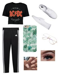 """"" by cuteblondie0411 on Polyvore featuring adidas and Vans"