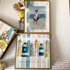 Mini Album Scrap, Mini Albums Scrapbook, Tampons Transparents, Thing 1, Mini Books, Flowers, Minis, Inspiration, Sea