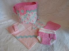 Hey, I found this really awesome Etsy listing at https://www.etsy.com/listing/211003827/doll-diaper-bag-set-pink-and-blue-birds