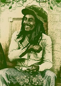 *Bob Marley* More fantastic paintings, pictures and videos of *Bob Marley* on: https://de.pinterest.com/ReggaeHeart/ ©Gori Giroto/ https://www.flickr.com/photos/photolost/