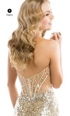 Gold prom dress from Flirt Prom www.flirtprom.com