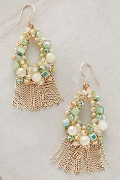 Fringed Wreath Earrings - anthropologie.com #anthrofave