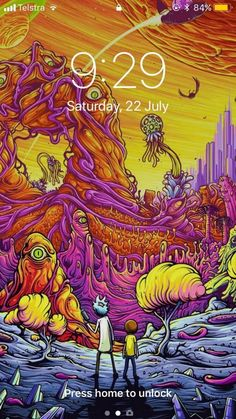 Rick and Morty Funny Cartoon Trippy Art Silk Poster 013 Abenteuerzeit Mit Finn Und Jake, Dan Mumford, Rick And Morty Poster, Psy Art, Psychedelic Art, Oeuvre D'art, Iphone Wallpaper, Cool Art, Geek Stuff