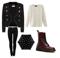 Para este día de lluvia by abromero17 on Polyvore featuring polyvore fashion style Nolita Yves Saint Laurent MM6 Maison Margiela Dr. Martens Radley clothing