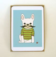 Adorable greeting cards....would only further my French Bulldog obsession.