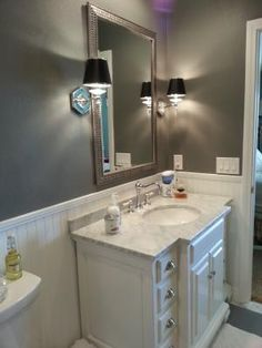Pic On Shop allen roth Vanover White Undermount Single Sink Birch Bathroom Vanity with Natural Marble Top