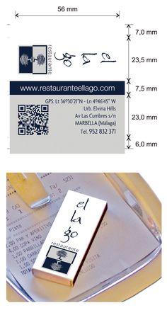 Propuesta diseño cajas de cerillas para el restaurante El Lago en Marbella. Money Clip, Match Boxes, Proposals, Restaurants, Money Clips