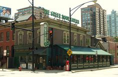 AMERICAN BAR & GRILL -- The Green Door Tavern on N. Orleans in downtown Chicago. A historical landmark with great food and drinks. MUST go!!!