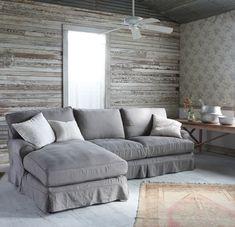 Comfy sofa in charcoal #rachelashwell