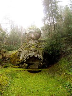 Bomarzo, Italy. Sacro Bosco / Monster Park.  One of the destinations on our Italian Gardens and Hero's Journey Tours. (www.herosjourney-italy.com) {Photo by cheesemonster}