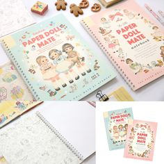 Afrocat Paper Doll Mate Spring Notebook Paper 60 Pages Thin 7mm Line Coloring #Afrocat