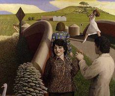 David Inshaw: Hand Holding, 1994 - Stanley Spencer-esque
