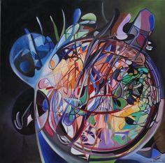 09 universo in progres 2010 80x80 t.mista su tela. Autore: Franco Bulfarini - (tutti i diritti sull'immagine riservati all'autore - per pubblicare o usare l'immagine chiedere autorizione all'autore. Per contatti: mail: bulfarte@gmail.com