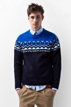 Rustic crew-neck: A/W 14/15 men's knitwear
