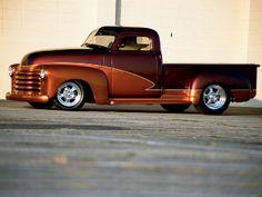 1948 Ford Truck, 53 Chevy Truck, Chevy Trucks Lowered, Custom Chevy Trucks, Classic Chevy Trucks, Classic Cars, Hot Rod Trucks, Gm Trucks, Cool Trucks