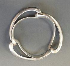 Vintage Georg Jensen Sterling 925 Silver Infinity Bracelet, Design #452, Denmark