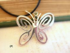 Large Butterfly  Necklace  inspired by by GeorgiaCollection, €60.00