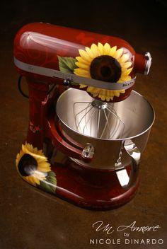 sunflower themed KitchenAid mixers Wish I had seen this before I got the plain white one.