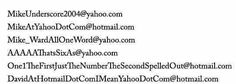 Email Addresses That Would Be Awkward To Say Over The Phone